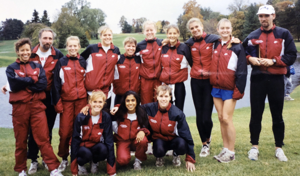 Dr. Ann Sheehy with Stanford cross country team
