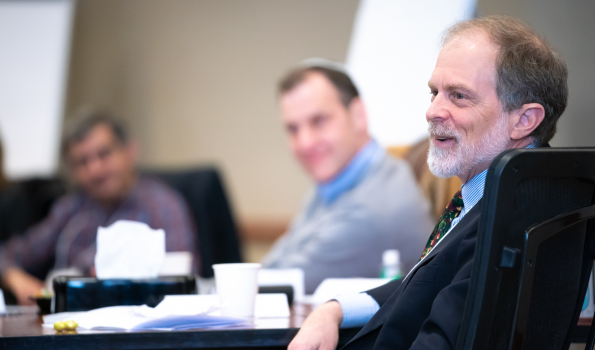 Dr. Kevin McKown (on right) at a Department of Medicine leadership retreat in March 2020. Credit: Clint Thayer/Department of Medicine