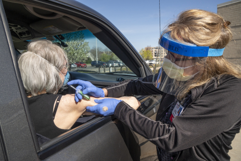Drive-through osteoporosis injection at UW Health West Clinic