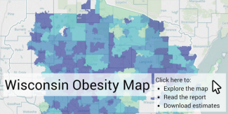 Wisconsin Obesity Map graphic