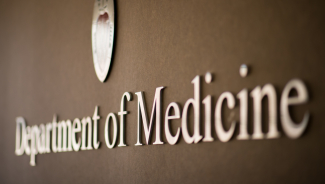Department of Medicine sign