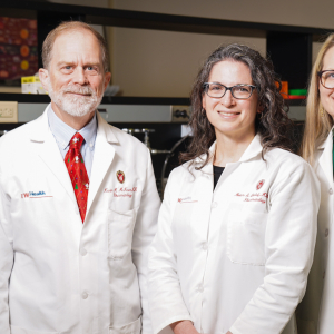 Kevin McKown, MD, professor (CHS) and division chief; Miriam Shelef, MD, PhD, assistant professor; Christie Bartels, MD, MS, associate professor