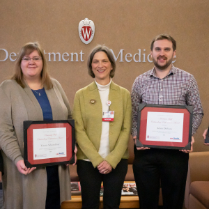 Department of Medicine Academic/University Staff Outstanding Performance Award Winners with Dr. Betsy Trowbridge