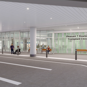 conceptual image of new clinic entrance